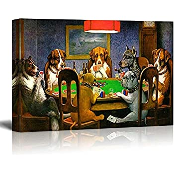 wall26 - Pokers Dogs by C. M. Coolidge - Canvas Art Wall Decor - 16