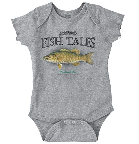 (Smallmouth Bass Fish Funny Cool Fishing Romper)