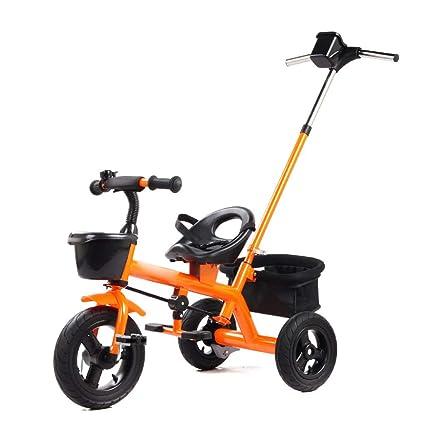 Jian E E-Carro Triciclo de niños 2 en uno Carrito de ...