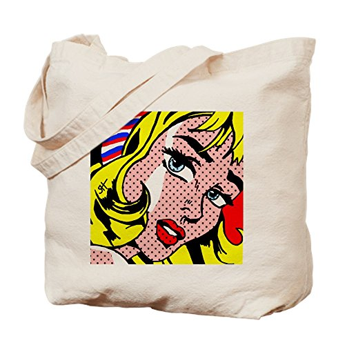CafePress–�? diseño de niña–Gamuza de bolsa de lona bolsa, bolsa de la compra Small caqui