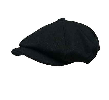 a8c4a4ca Peaky Shelby Blinders Cap Melton Newsboy Cap Shelby Cap Gatsby Cap - Black  (59cm -