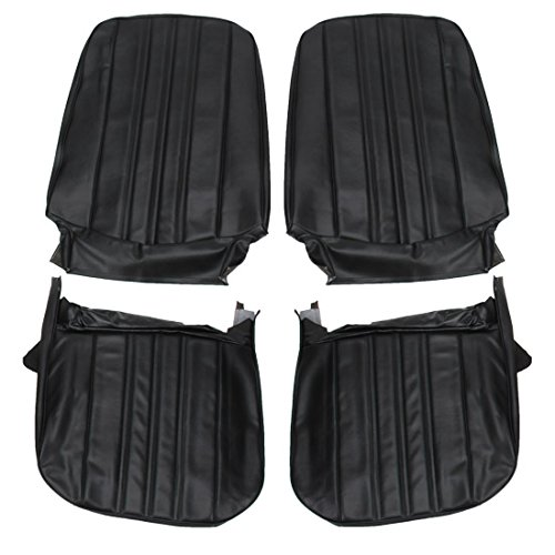 SEAT CVR FRONT BUCKETS Nova/Chevy II Custom 68 BLACK