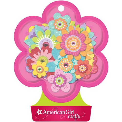 American Girl Crafts Fancy Flowers Stacked Stickers