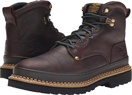 Georgia Giant 6in. Work Boot - Brown, Size 14W, Steel Toe, Model# (Repairable Goodyear Welt)