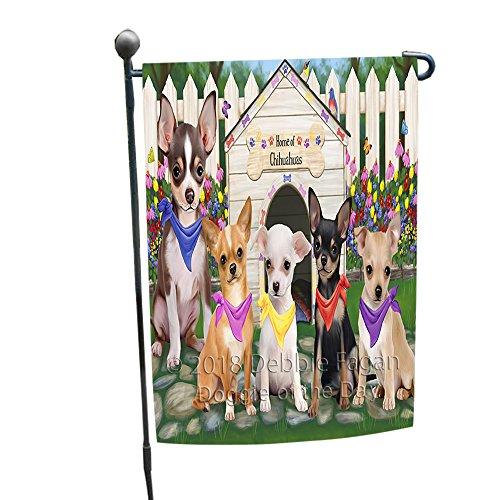 Chihuahua Dog Garden Flag - Spring Dog House Chihuahuas Dog Garden Flag GFLG49679