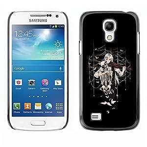 "For Samsung Galaxy S4 Mini (NOT for regular S4) , S-type Anime la muchacha del violín"" - Arte & diseño plástico duro Fundas Cover Cubre Hard Case Cover"