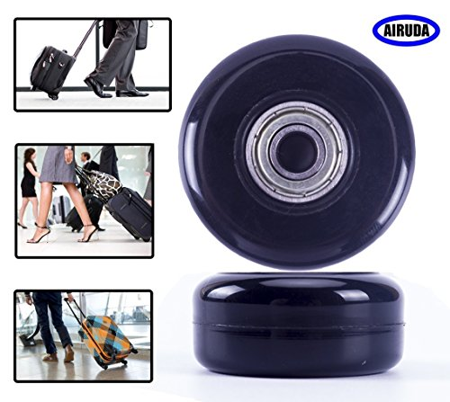 Replacement Wheels For Luggage, DIY Wheels for Most Luggage Quiet and Smooth Wheels Perfect fit for Samsonite Luggage, Rimowa Luggage and Ricardo Luggage(Set of 2) (63
