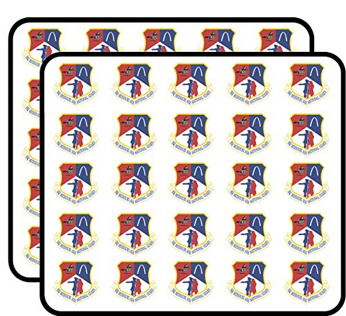 US Air Force Headquarters Missouri Air National Guard Vinyl Transfer Decal Military Veteran Served 50 Pack Sticker for Scrapbooking, Calendars, Arts, Album, Bullet Journals and More 1