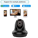Agazer Wireless IP Video 720P HD Camera WiFi Home Surveillance Security Monitor - Pan-Tilt Remote Motion Detection Monitoring for Baby Nanny Pet - Night Vision 2 Way Audio Mobile View (FI-366 - Black)