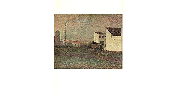 """1968 Vintage SEURAT /""""INDUSTRIAL SUBURB/"""" COLOR offset Lithograph"""