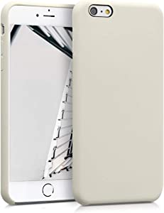 kwmobile TPU Silicone Case Compatible with Apple iPhone 6 Plus / 6S Plus - Case Slim Protective Phone Cover with Soft Finish - Cream