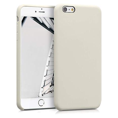 kwmobile Funda para Apple iPhone 6 Plus / 6S Plus - Carcasa de [TPU] para teléfono móvil - Cover [Trasero] en [Crema]