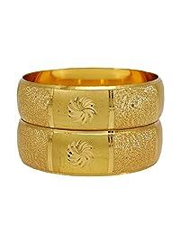 Banithani Traditional Indian 18K Micron Gold Plated Bangles Designer Kada Bracelets Jewelry