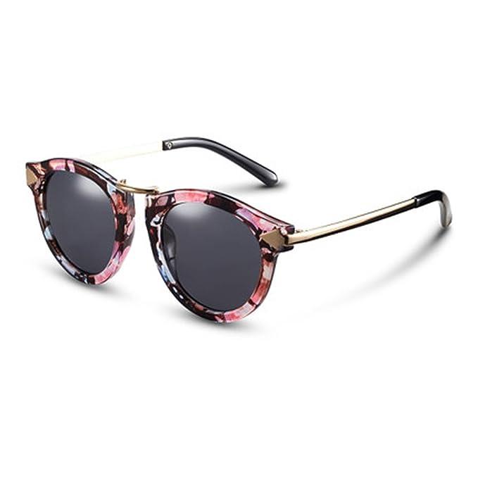 Gafas para mujer Gafas de sol polarizadas Cara redonda Gafas de sol retro Gafas de sol para hombre Gafas de sol cómodas Retro polarizadores, A: Amazon.es: ...