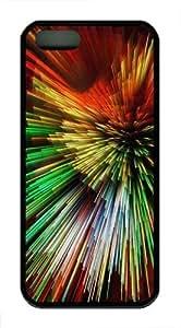 Color Fireworks Custom iPhone 5s/5 Case Cover TPU Black