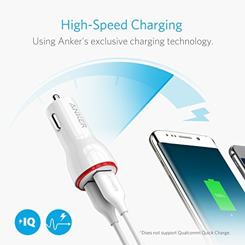 Anker 24W Dual USB Car Charger, PowerDrive 2 for iPhone X / 8/7 / 6s / 6 / Plus, iPad Pro/Air 2 / Mini, Note 5/4, LG, Nexus, HTC and More by Anker (Image #4)