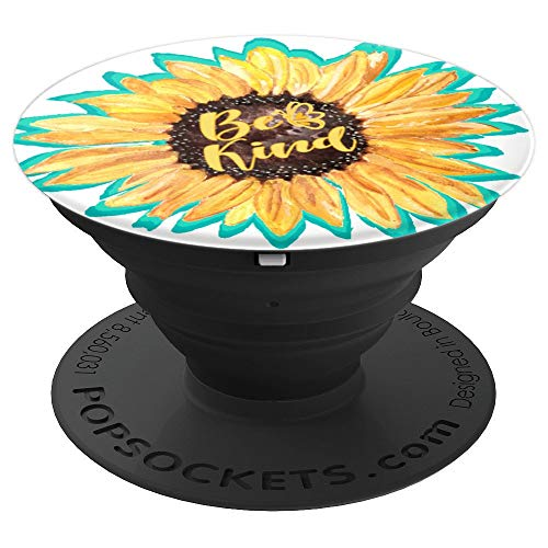 Anti Bullying Color (Sunflower Be Kind Watercolor Anti-bullying Teal Turquoise - PopSockets Grip and Stand for Phones and)
