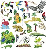 Little Folk Visuals Rain Forest Animals Precut Flannel/Felt Board Figures, 31 Pieces Set