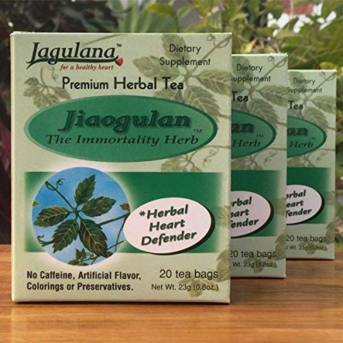 Jiaogulan Tea - Gynostemma Pentalhyllum - Herbal Organic (2 Boxes of 20 Tea Bags Each) ()