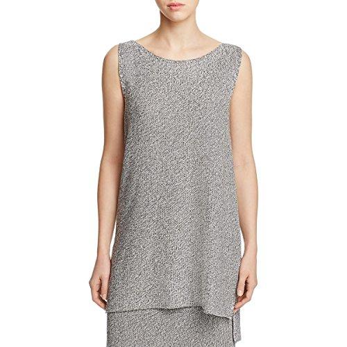 Eileen Fisher New Womens Petite Silver Tencel Tunic Sweater Top PS BHFO 8798