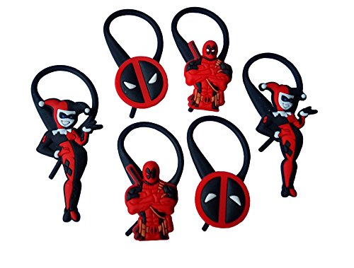 AVIRGO 6 pcs Soft Zipper Pull Charms for Jacket Backpack Bag Pendant Set # 123 - 3 - Scarlet Witch New Avengers Costume