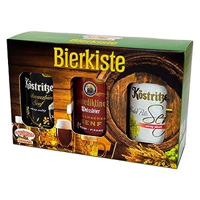 Altenburger Original Bierkiste - drei mit Bier verfeinerte Senfsorten als Geschenk-Set (3-teilig), Geschenkbox für…