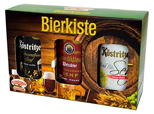 511biy3lEyL Altenburger Original Bierkiste - drei mit Bier verfeinerte Senfsorten als Geschenk-Set (3-teilig), Geschenkbox für…