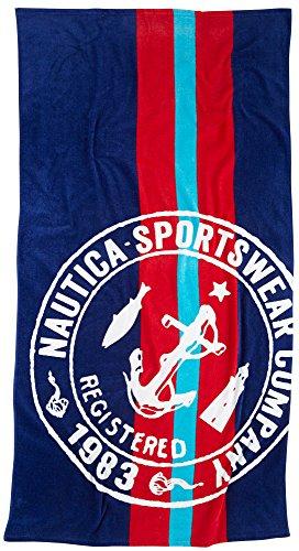 Nautica Stamp Logo Beach Towel