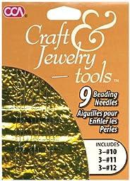 Craft & Jewelry Beading Needles 9/Pkg-3 each of #10, #11, #12