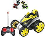 VGRASSP Mini Stunt Remote Control Rechargeable Car Toy for Kids – 360 Degree Rotating Rolling Flip Car (Colour as per Stock)