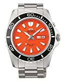 Best Orient Dive Watches - Orient Orange Dial Mako II Automatic Watch on Review