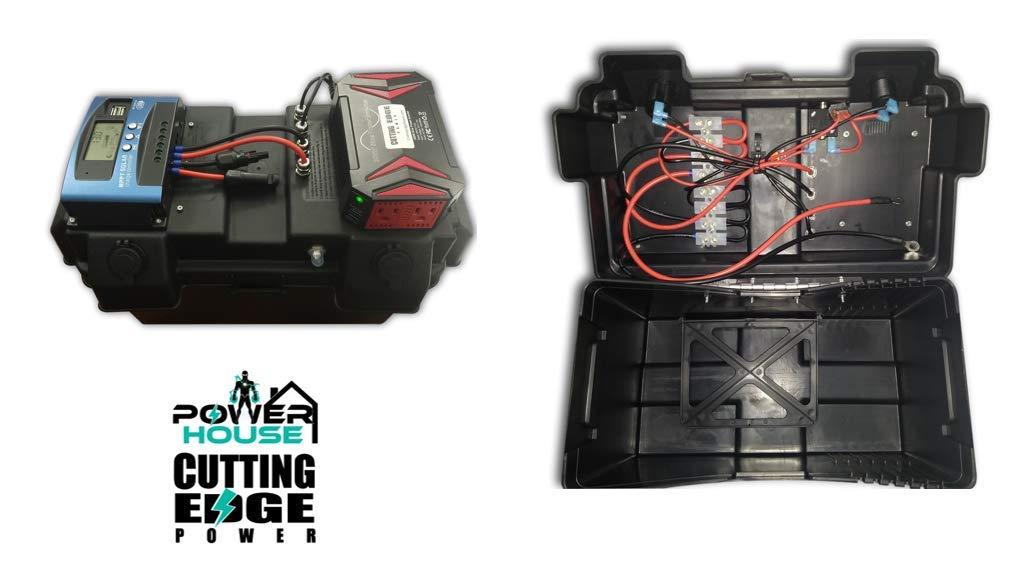 Cutting Edge Power 1200W MPPT Premium Solar Generator with 300W Pure Sine Inverter, Portable Battery Box by Cutting Edge Power