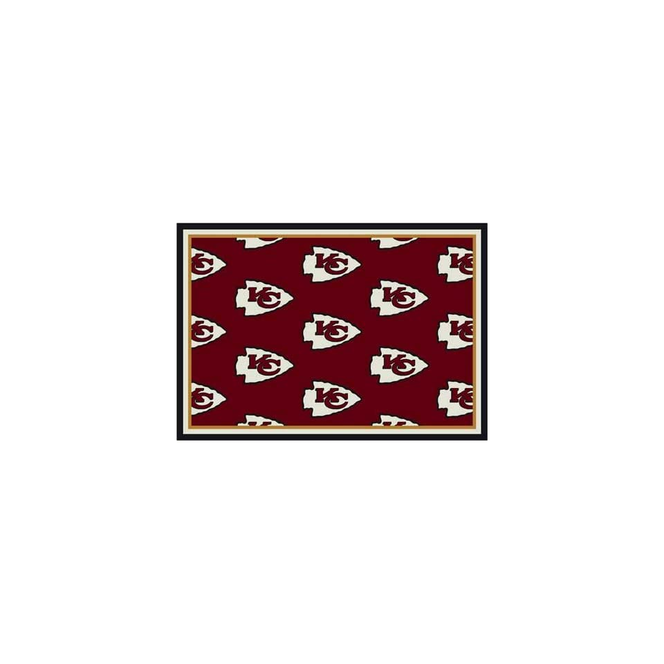 NFL Team Repeat Rug   Kansas City Chiefs (Red Bkgrd)