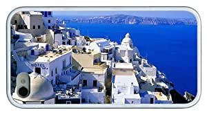 Hipster cheap iPhone 4 cover Santorini Village TPU White for Apple iPhone 4/4S
