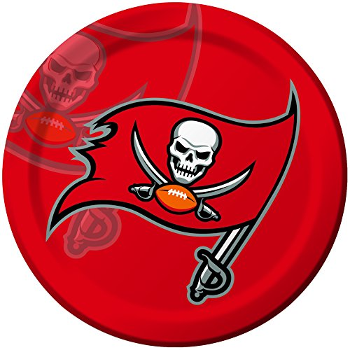 picture of Creative Converting 8 Count Tampa Bay Buccaneers Paper Dinner Plates