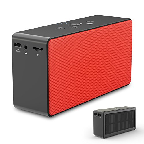 Solar Bluetooth Speaker/Power Bank, ZeroLemon SolarSound 72-Hour Playtime Solar-powered 10W Portable Wireless Bluetooth 4.0 Speaker & Power Bank for Smartphone-charging, Aux Audio/TF Card Supported by ZEROLEMON