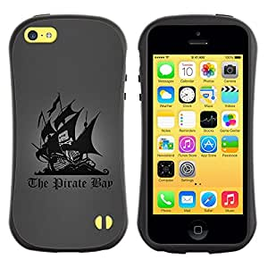 Suave TPU GEL Carcasa Funda Silicona Blando Estuche Caso de protección (para) Apple Iphone 5C / CECELL Phone case / / The Pirate Bay /