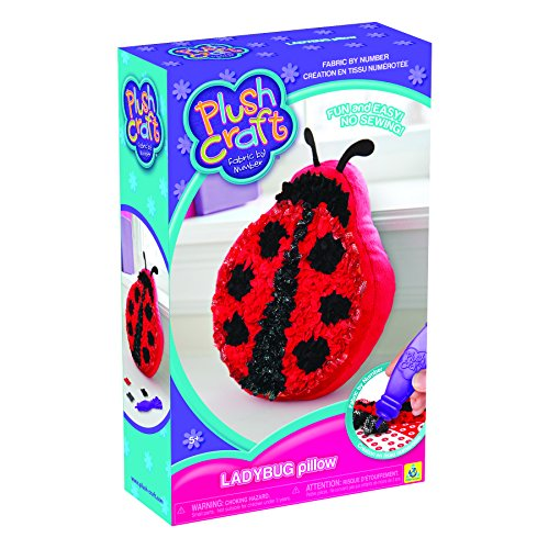 The Orb Factory PlushCraft Ladybug Pillow (Plush Craft Fabric By Number) No Sewing