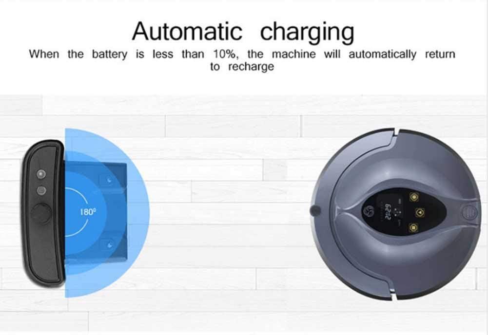 RUIXFRV sans Fil Robot Aspirateur, Recharge Automatique, Contrôle APP, Capteur Anti-Collision, Balayeur Automatique pour Soin des Poils d\'animaux Intelligent C