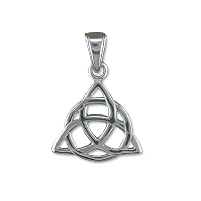 Sterling silver triquetra pendant on a 16 inch snake necklace sterling silver triquetra pendant on a 16 inch snake necklace amazon jewellery mozeypictures Image collections