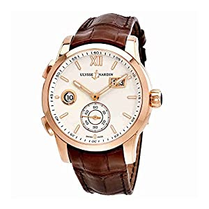 Ulysse Nardin Dual Time Automatic Eggshell Dial Mens Watch 3346-126/90