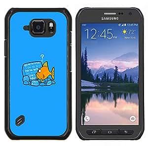 """Be-Star Único Patrón Plástico Duro Fundas Cover Cubre Hard Case Cover Para Samsung Galaxy S6 active / SM-G890 (NOT S6) ( Divertido Goldfish Fish"""" )"""