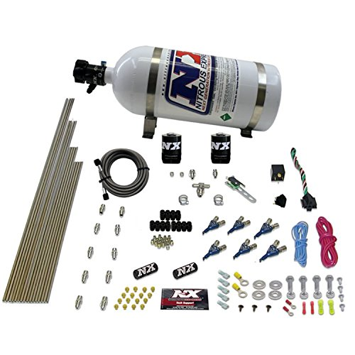 (Nitrous Express 80006EFI-10 60-250 HP 6-Cylinder Gasoline EFI Piranha Nozzle System with 10 lbs. Bottle)
