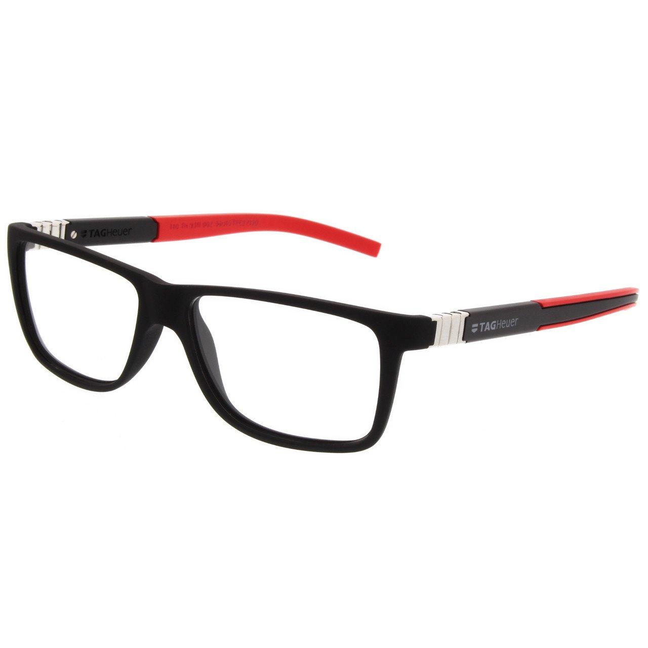 Tag Heuer Designer Optical Eyeglasses 9312 Legend Unisex Frames (Black / Red) by TAG Heuer