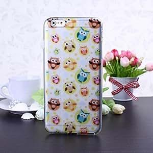 JOE Cute Owl Pattern TPU Soft Case for iPhone 6 Plus