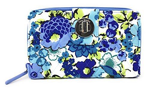 Vera Bradley Turnlock Wallet (Blueberry Blooms)