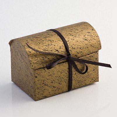 Cajas para regalo de boda Cofanetto - negro y dorado (PK 10 se envía desmontado, sin decoración): Amazon.es: Hogar