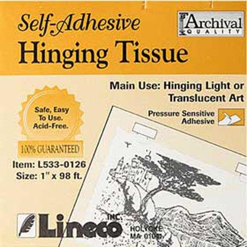 Lineco Self-Adhesive Mounting Hinging Tissue, 1