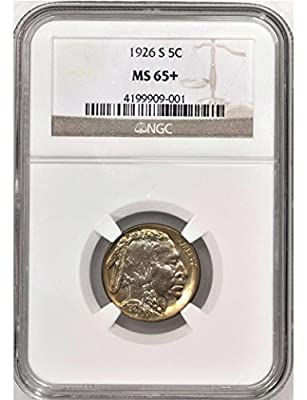 1926 S Buffalo Nickel 1926-S 5C Buffalo Nickels NGC MS65 Nickel MS-65 NGC