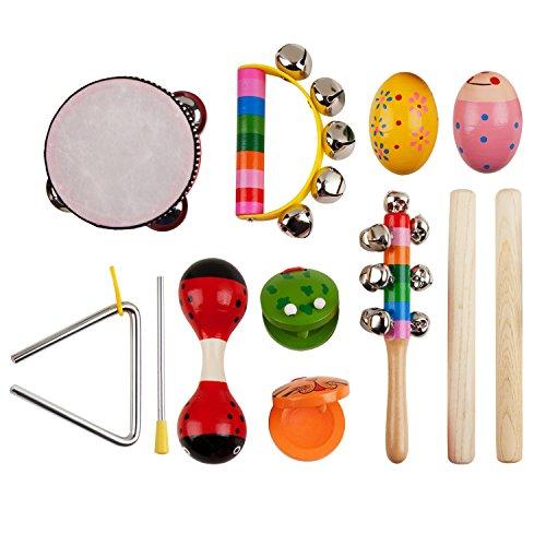LZHZH Brand Store 10pcs Kids Musical Instruments, Musical Instruments Set with Xylophone for Kids Percussion Toy